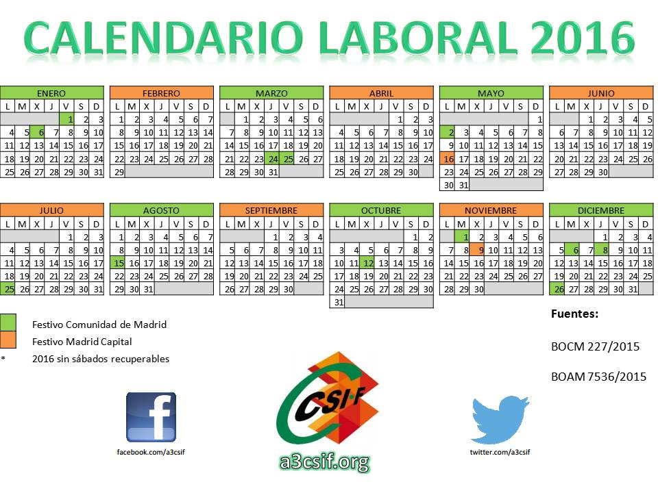 Calendario laboral madrid fiestas de madrid tattoo for Calendario eventos madrid